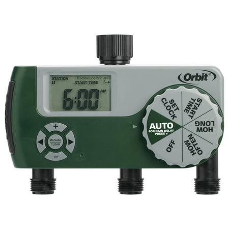 Orbit Sprinkler Timer - Orbit 56082 3 Outlet Digital Watering Timer