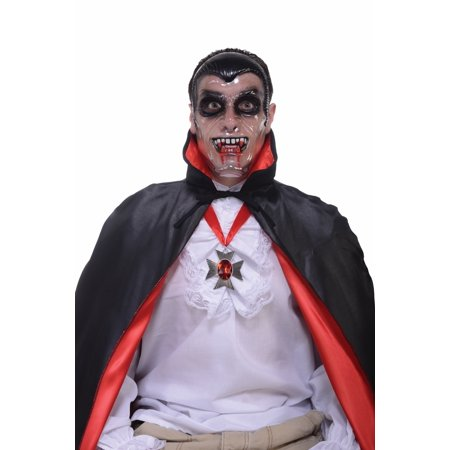 Transparent Costume Mask Adult: Vampire One Size