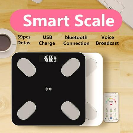 APP bluetooth Smart Human Health Scale USB Charge Multi-user Setting Auto Record