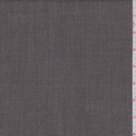 Dark Taupe/Black Mini Check Wool Blend Suiting, Fabric By the Yard