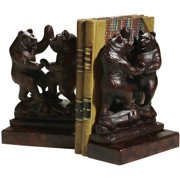 Bookends Bookend MOUNTAIN Rustic Dancing Bears Resin New Hand-Painted Han OK-571