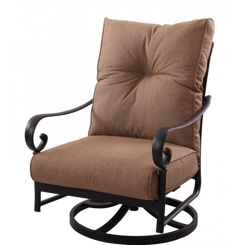 K&B Patio Santa Anita Swivel Club Chair with Cushions