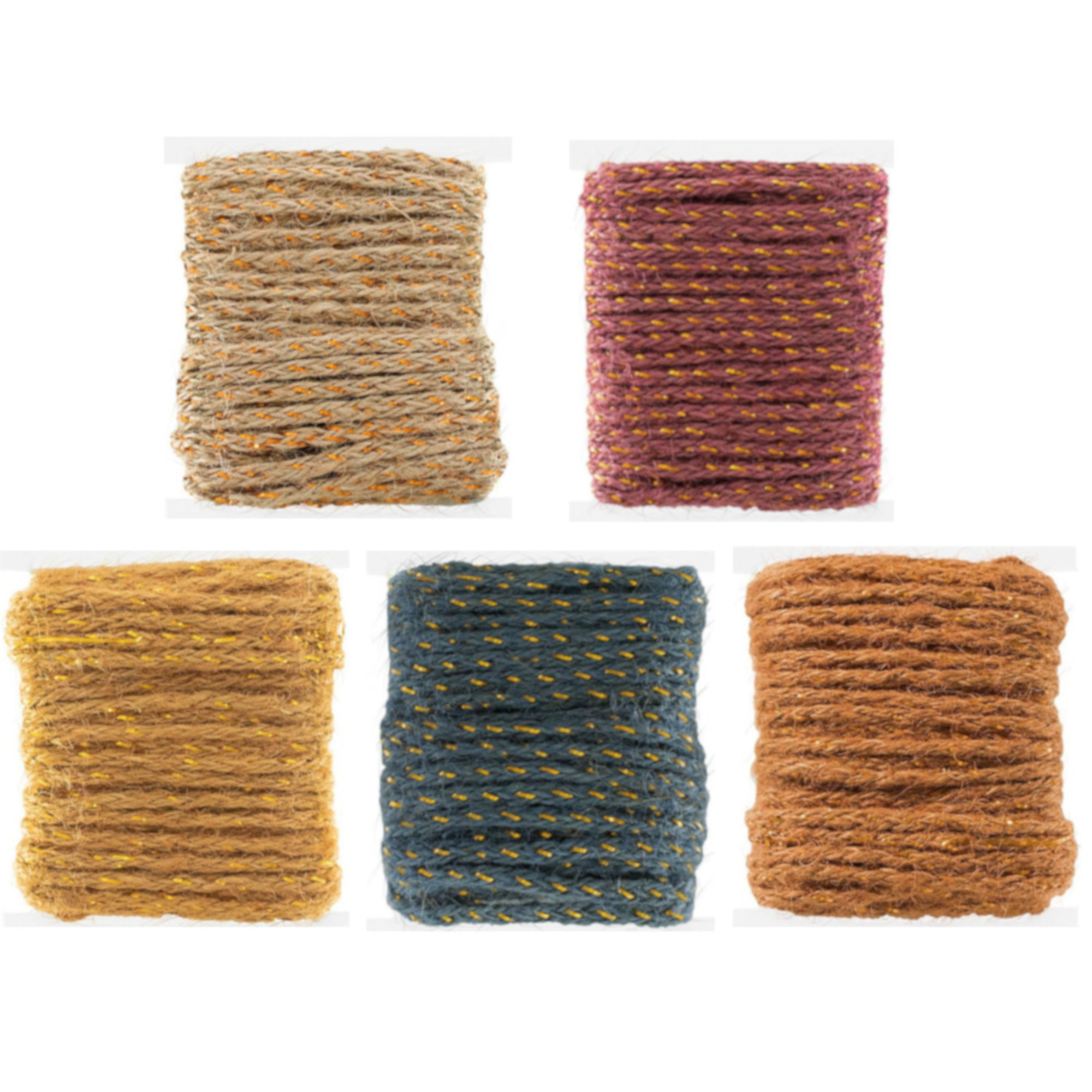 Craft County Jute Cord in a Large Selection of Colors and Packages - 3mm Diameter - Each Spool is 10 Meters of Jute - You'll Get 50 or 100 meters in Total with any Choice - Great for DIY projects