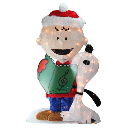 - Northlight 32 in. Pre-Lit Peanuts Charlie and Snoopy Christmas Yard Art Decoration
