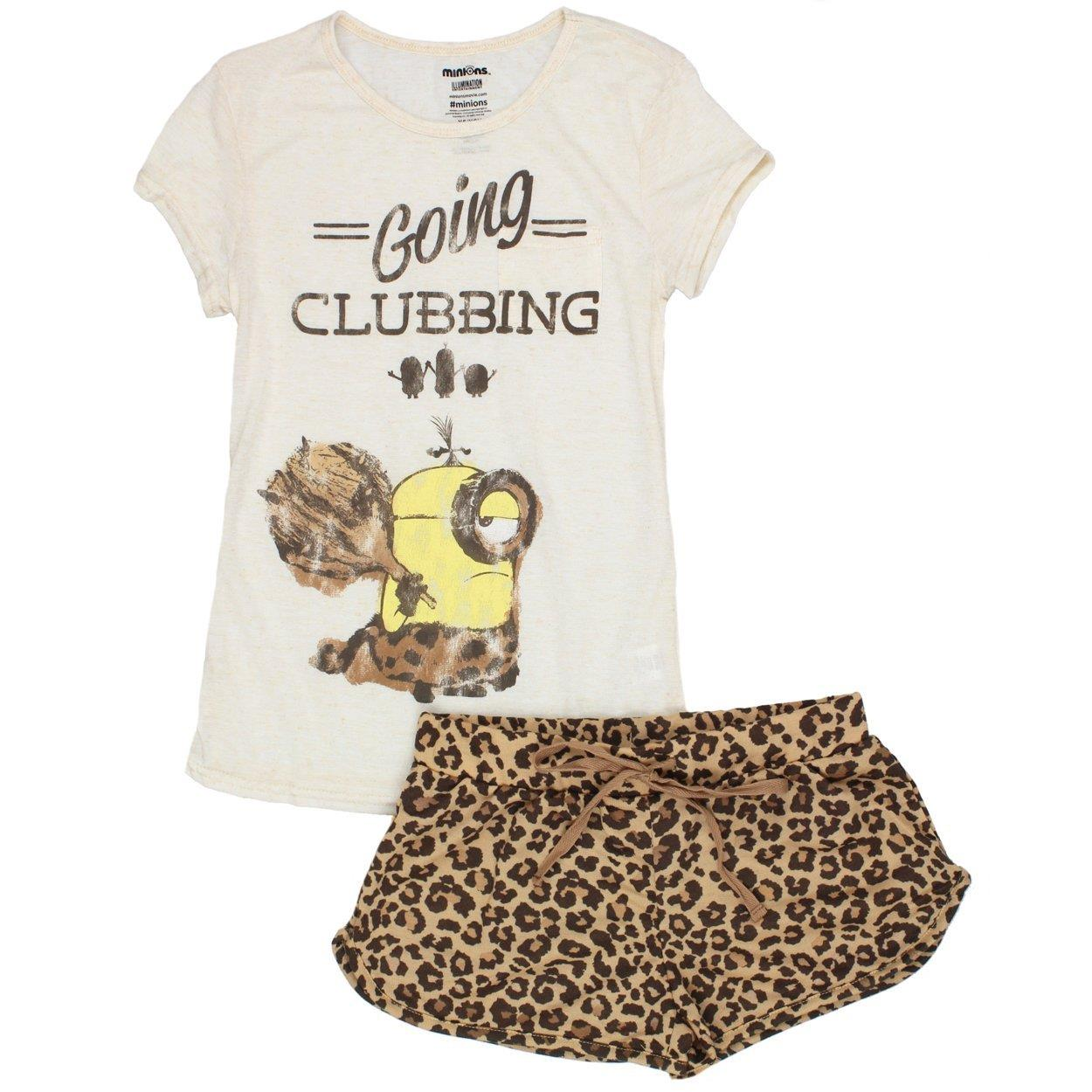 Despicable Me Minions Juniors Shorts Pajamas Set (Teen/Adult)