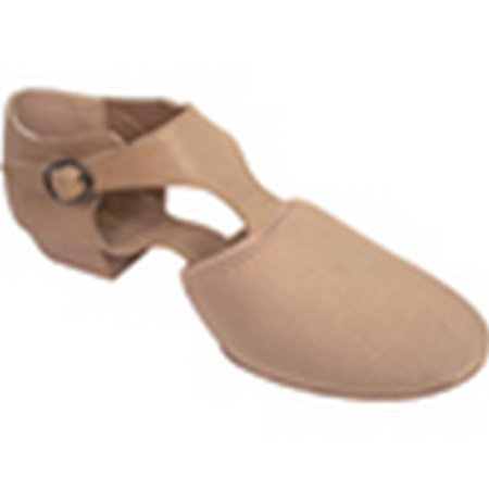 Girls Beige Neoprene Vamp Leather Quarter T-Strap Jazz Shoes 10-3 Toddler - Toddler T Strap Shoes