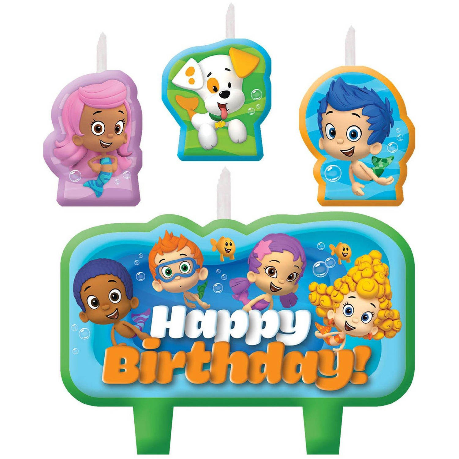 Bubble Guppies Birthday Candle Set