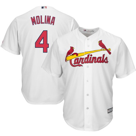 Yadier Molina St. Louis Cardinals Majestic Cool Base Player Jersey - White