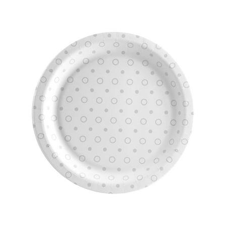 Elegant Lace Dessert Plate (8 Count)