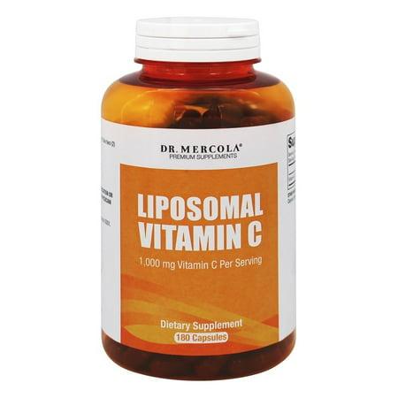 Dr. Mercola Produits Premium - liposomale vitamine C 1000 mg. - 180 capsules