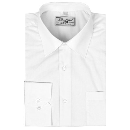 White Egyptian Shirt (Men's Classic Solid Long Sleeve French Convertible Cuff Dress Shirt (White, 4XL 36/37))