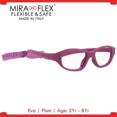 Miraflex: Eva Unbreakable Kids Eyeglass Frames   43/15 - Plum   Age ...