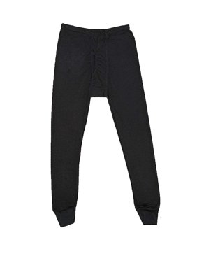 Rocky Men's Thermal Long John Bottom Waffle Knit (Large, Black)