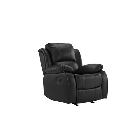 Real Leather Oversize Recliner Chair, Home Theater Overstuffed Reclining Chair