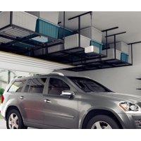 "FLEXIMOUNTS 4x8 Heavy Duty Overhead Garage Adjustable Ceiling Storage Rack, 96"" Length x 48"" Width x 40"" Height, Black"