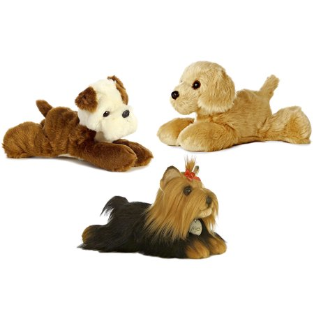Stuffed Animals and Super Soft Plush Aurora Mini Flopsies Golden Retriever Super Soft Plush and Aurora Mini Flopsies Sempre Fi Pup Super Soft Plush and Aurora World Mini Flopsies Miyoni the (Pup Retriever)
