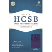 HCSB Large Print Personal Size Bible, Purple LeatherTouch