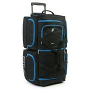 Best Rolling Duffels - Fila 7-Pocket Large Rolling Duffel Bag, Black/Blue Review