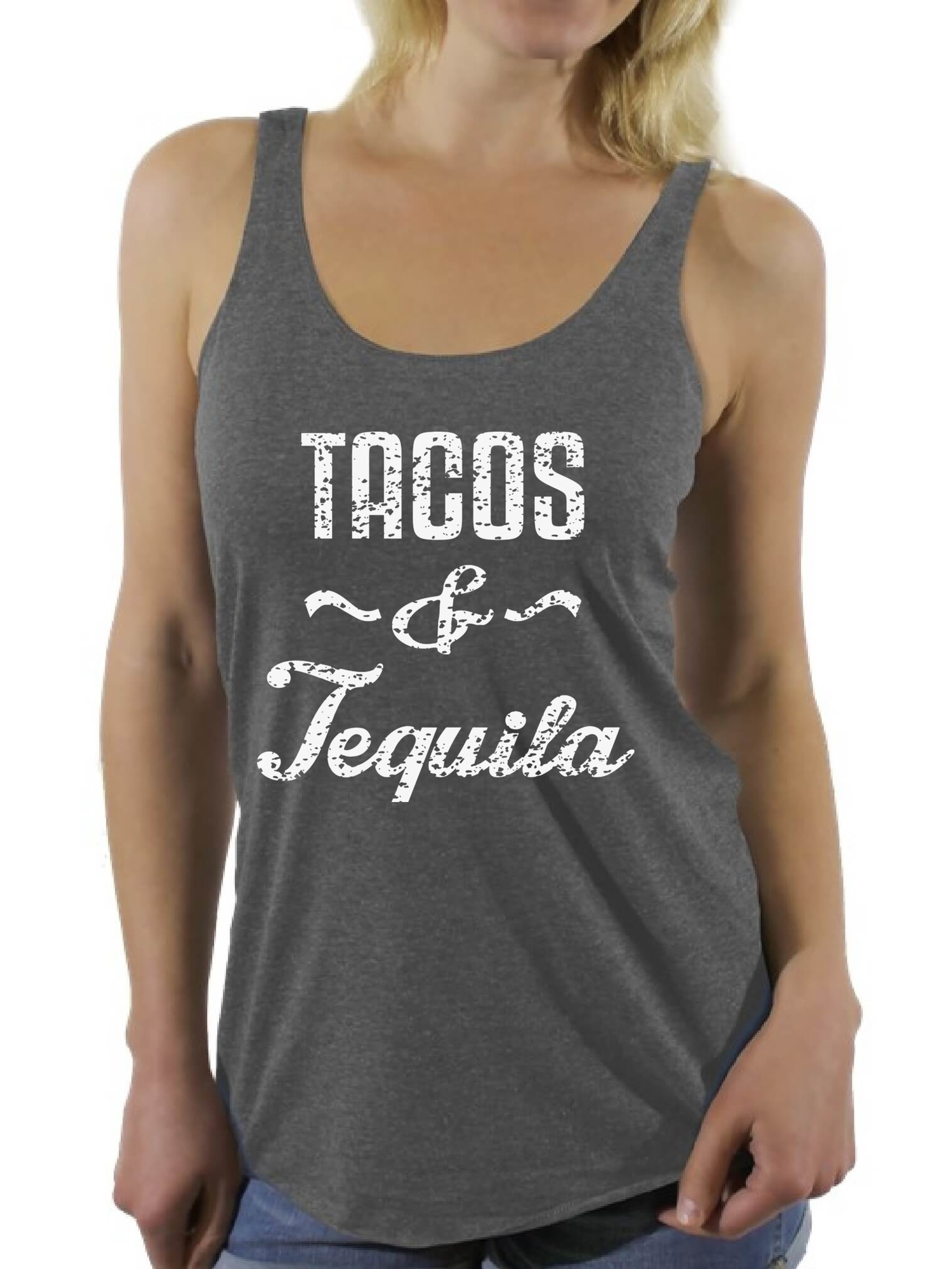 Awkward Styles Women's Tacos & Tequila Graphic Racerback Tank Tops Taco Mexican Drinking Party Gift