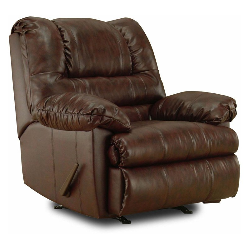 simmons geneva 3way faux leather rocker recliner - Leather Rocker Recliner