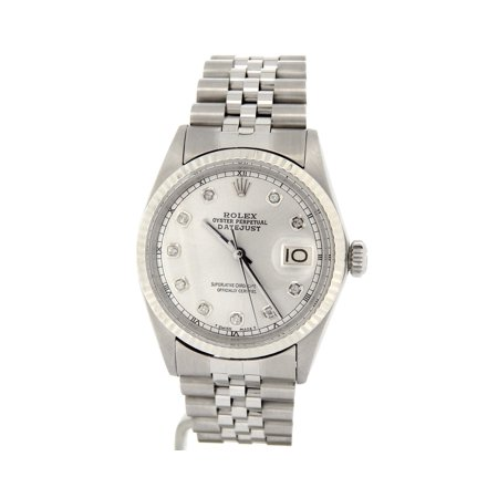 Pre-Owned Mens Rolex Stainless Steel Datejust Silver Diamond 1601 (SKU 2570542MT)