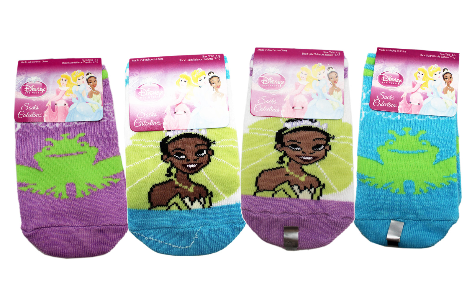 3 Pair Assorted Disney Princess Socks Kids Socks Size 4-6