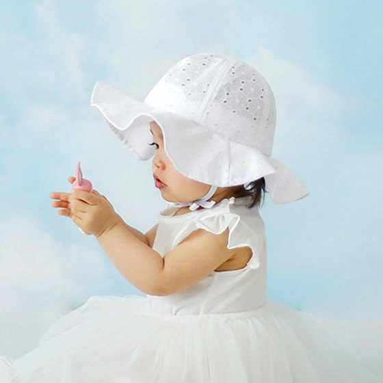 ad43603dbea673 Lovely Baby Girls Summer Outdoor Bucket Hat Toddler Infant Soft ...