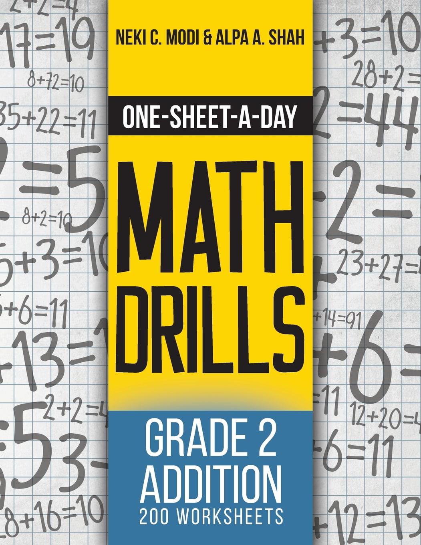 One Sheet A Day Math Drills Grade 2 Addition 200 Worksheets Book 3 Of 24 Walmart Com Walmart Com [ 1360 x 1051 Pixel ]