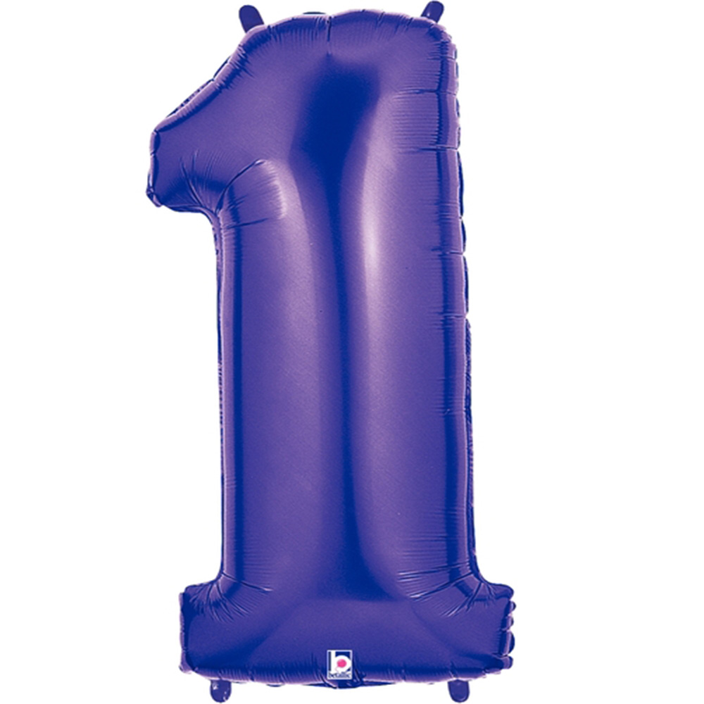 Giant Purple Number 1 Foil Balloon 40""