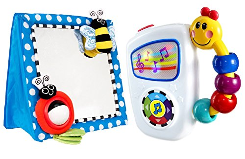 Sassy Floor Mirror, Blue with Take Along Tunes Musical Toy by
