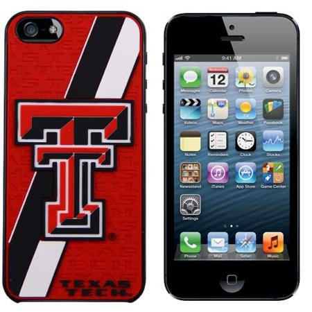 Texas Tech Red Raiders Team Logo Stripe iPhone 5 Hard Case - Scarlet Team Logo Hard Iphone