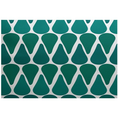 Simply daisy 2 39 x 3 39 watermelon seeds geometric print rug for Geometric print area rugs