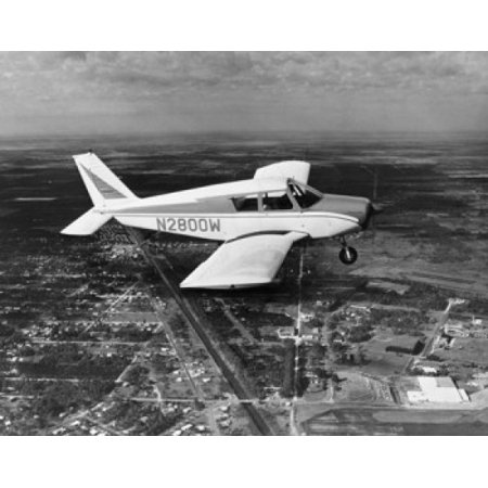 High angle view of an aircraft in flight Piper Plane Vero Beach Florida USA Canvas Art -  (18 x 24) ()