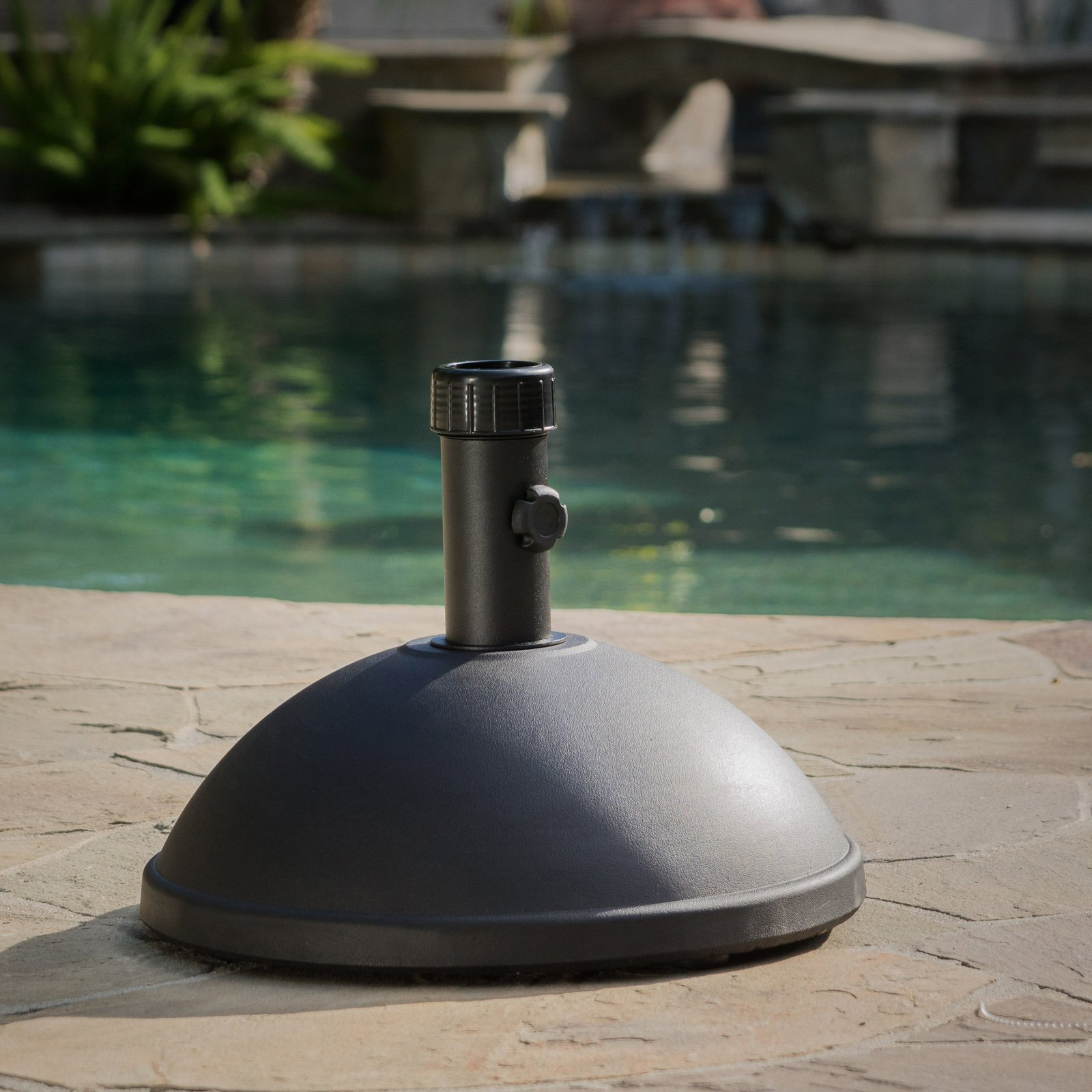 Best Selling Home 55 lbs. Dome Concrete Umbrella Holder