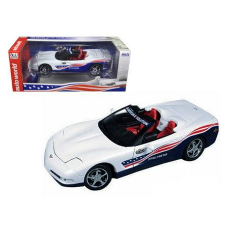 1998 Corvette Pace Car - AUTO WORLD 1:18 2004 CHEVROLET CORVETTE INDY PACE CAR AW204