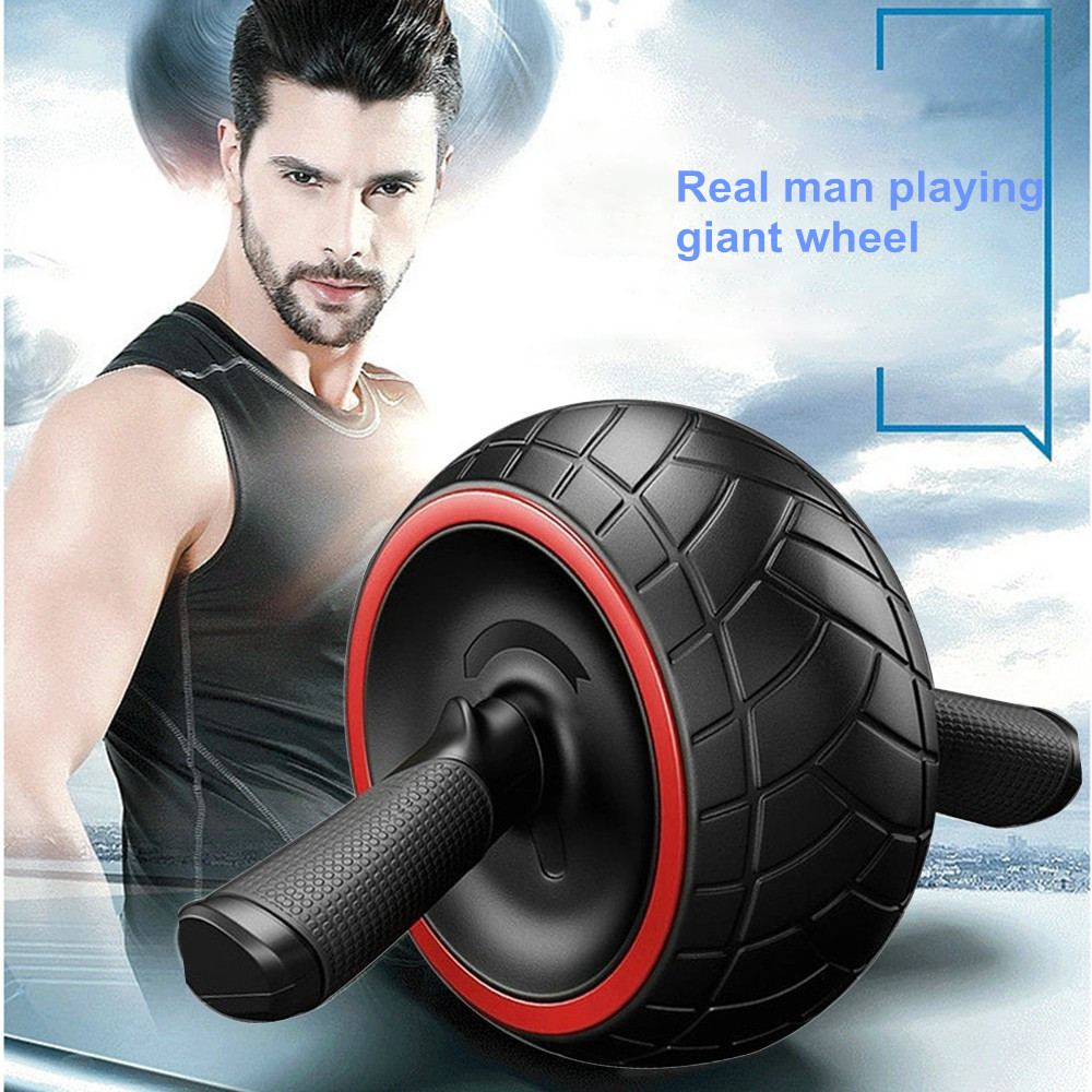 Huppin'sAbdominal Bomb Type Silent Giant Wheel Rubber Abdominal Muscle Roller