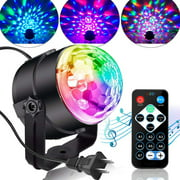 Disco Lights Sound Activated Strobe Light Disco Ball Dj Lights Party Lights Xmas 7 Colors Disco light Disco Party Lights Show for Christmas Parties DJ Karaoke Wedding Outdoor with Remote
