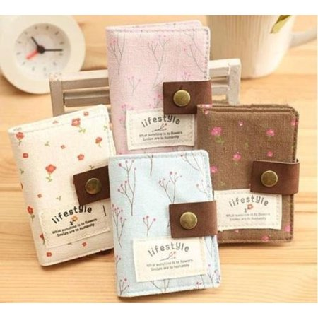 Floral Women Credit ID Card Clutch Bag Wallet Purse Holder Pouch Coin Bag Pocket - image 2 de 5