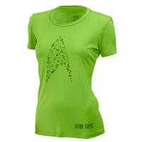 e62fb134d29 Product Image Brainstorm Gear Women s Star Trek  Cadet  Tech Shirt - Green  ...