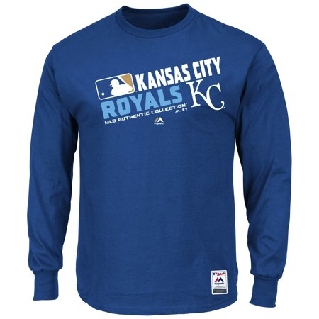 Kansas City Royals Majestic Authentic Collection Team Choice Long Sleeve T-Shirt - (Kansas City Royals Fender)