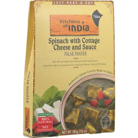 Kitchens Of India Spinach With Cottage Cheese And Sauce  10 0 Oz