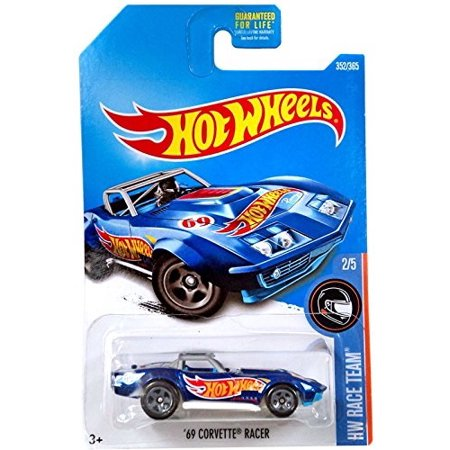 Corvette Race - hot wheels 2017 hw race team '69 corvette racer 352/365, blue