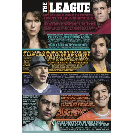 The League Funny Quotes Fantasy Football Sports FX TV Series Poster - 24x36