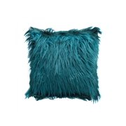 "Fluffy Solid Color Square Throw Pillow Case Cushion Cover Home Decor 18""*18"""