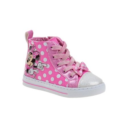 The Minnie Mouse Pink Polka Dot Girls Sneakers