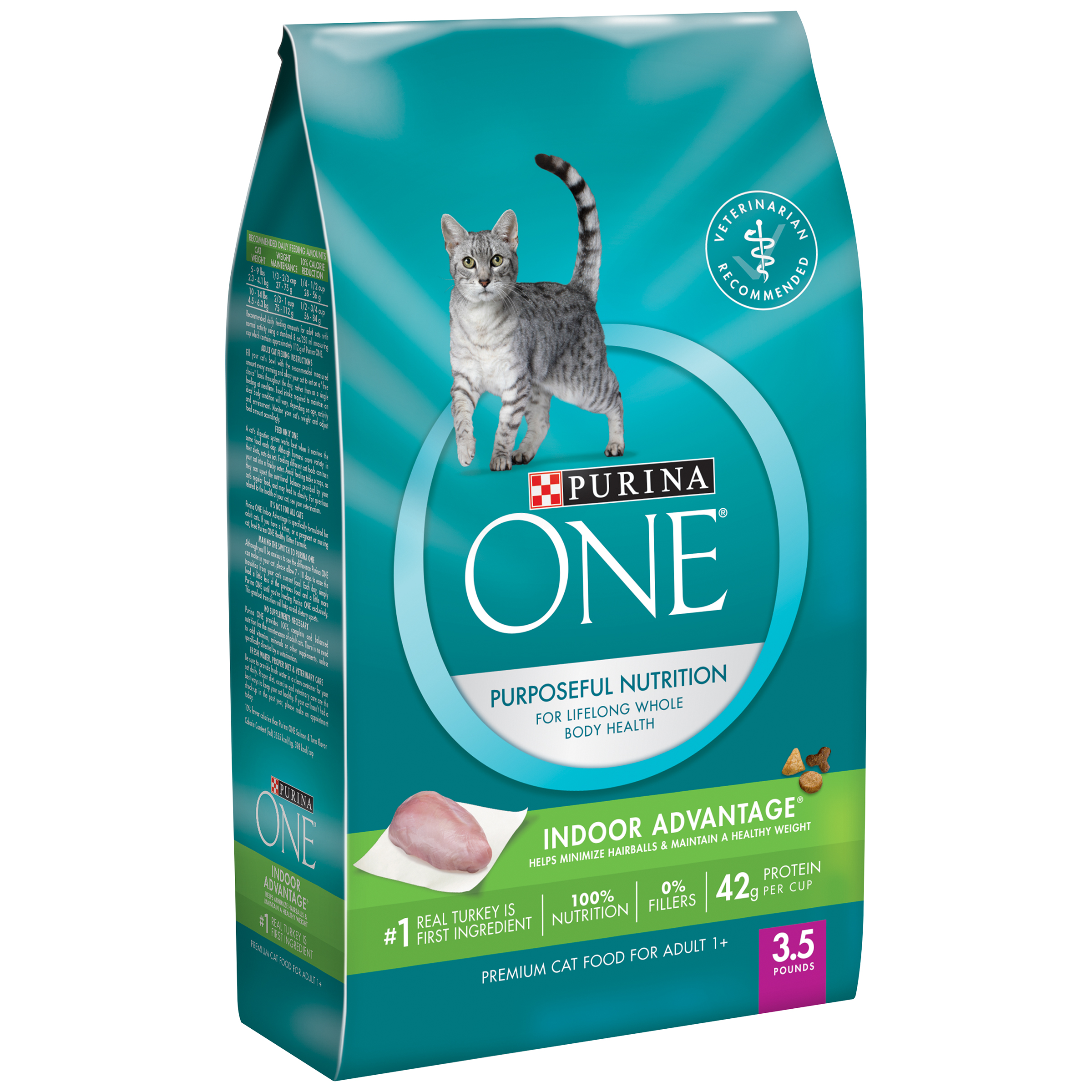 Purina ONE Indoor Advantage Adult Premium Cat Food 3.5 lb. Bag