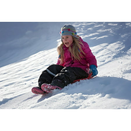 LAMINATED POSTER Girl Sunshine Good Weather Winter Snow Child Poster Print 24 x 36