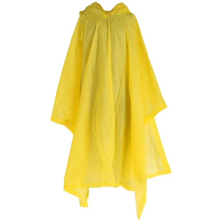 Yellow Rain Poncho (Size one size Kid's Reusable Rain Poncho,)