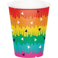"""Club Pack of 96 Vibrantly Colored Fiesta Fun Party Cups 3.75"""""""