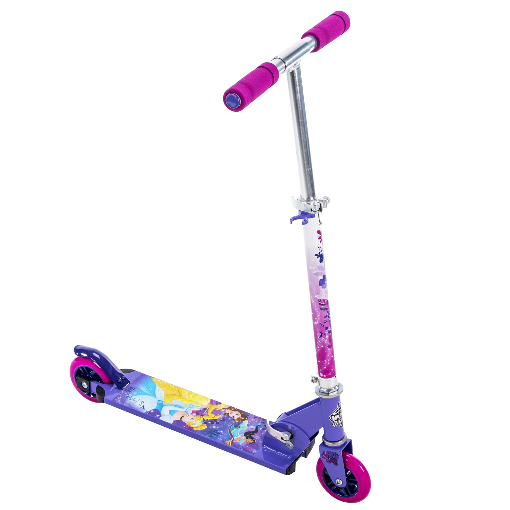 Disney Princess Girls 2Wheel Inline Folding Scooter by Huffy by Huffy